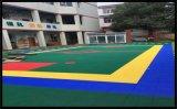 錫林郭勒氣墊懸浮地板籃球場塑膠地板拼裝地板