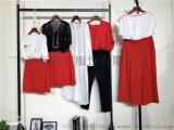 杭州一线品牌三彩夏装剪标正品时尚少淑女装折扣尾货