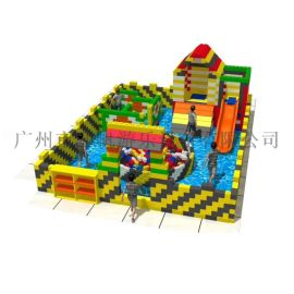 最新兒童室內積木樂園中庭項目新型積木城堡