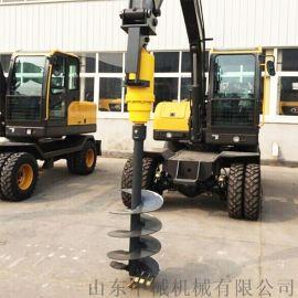 挖掘机改装液压螺旋钻挖掘机打孔钻驱动马达打桩钻孔