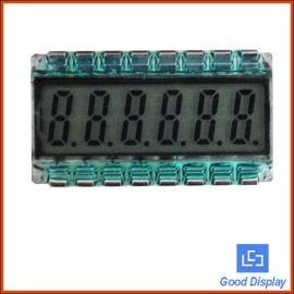 大连佳显小尺寸超宽温6位8字TN段码LCD液晶数码管显示屏GDC04520