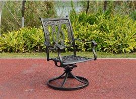 双金钱铸铝转椅BML151105R|别墅阳台家具|铸铝桌椅|户外家具