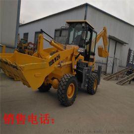 现货挖装两用挖掘装载机  四轮挖掘装载机