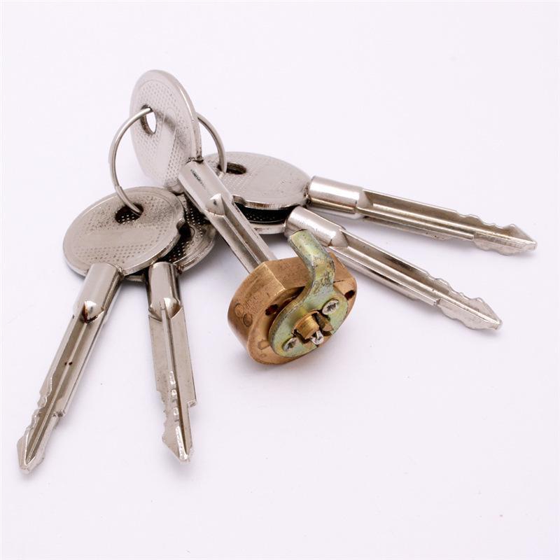 十字鎖鍍鎳多把鑰匙十字鎖芯定做插芯雙  芯來圖來樣