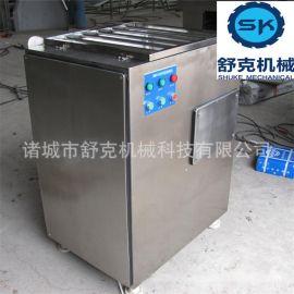 大型食品绞肉机 诸城舒克130型冻肉绞肉机 香肠肉料绞切机