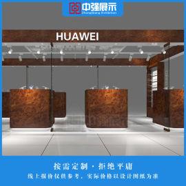 供应商场华为手机展柜定制HUAWEI展示柜台设计