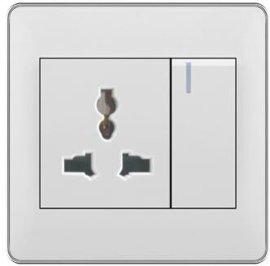 厨房微波炉86型16A多功能插座开关冰箱墙壁开关厂家直销