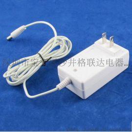 欧规美规9V2A电源适配器 白色外壳9v移动便携式DVD/EVD充电器电源