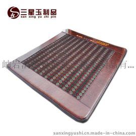 三星网面玉石锗石混合床垫 红皮革 电加热床垫