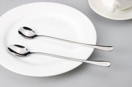 韩式不锈钢搅拌勺 夏日冰勺咖啡勺 长柄勺子 加长柄饭勺