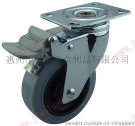 镜面抛光镀铬脚轮 TPR防静电脚轮 刹车脚轮