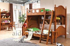 包邮北欧子母实木儿童上下床 多功能高低铺儿童双层床厂家直销