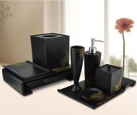 供应树脂卫浴套装八件套 树脂酒店用品 树脂艺品