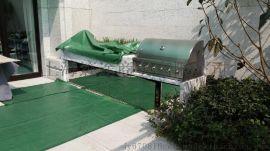 MR.tong 花园生活 个性化简洁明了的中花白大理石台面户外燃气烧烤台