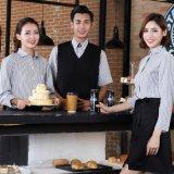 酒店工作服咖啡廳服務員工作服襯衣快餐店網咖服務員