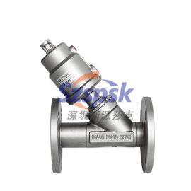 代替進口食品電子印染蒸汽全不銹鋼法蘭氣動角座閥YK2004PDN25 32