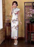 高端中国风真丝旗袍夏装品牌折扣尾货批发