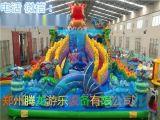 游乐园大型充气城堡滑梯生产厂家 儿童充气乐园蹦蹦床