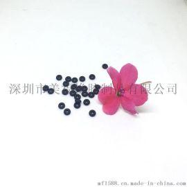 直销硅胶O型圈Φ1.3*Φ0.6*线径Φ0.35mm 黑色硬度60度 螺丝专用精细小胶圈密封圈