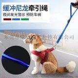 发光一步牵引绳双层不勒手LED狗绳短款宠物用品新款