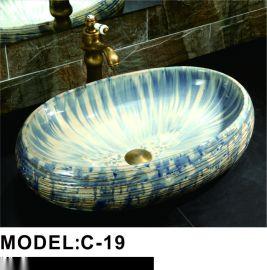 定做35/40/45公分陶瓷洗脸盆 艺术台上盆碗盆