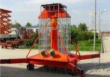 小型双梯高空作业机械 苏州吴中区启运套缸垂直举升机