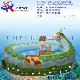 兒童 玻璃鋼釣魚池 磁性魚 兒童益智樂園