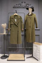时尚高端双面尼大衣女装折扣货源 双面尼大衣库存尾货