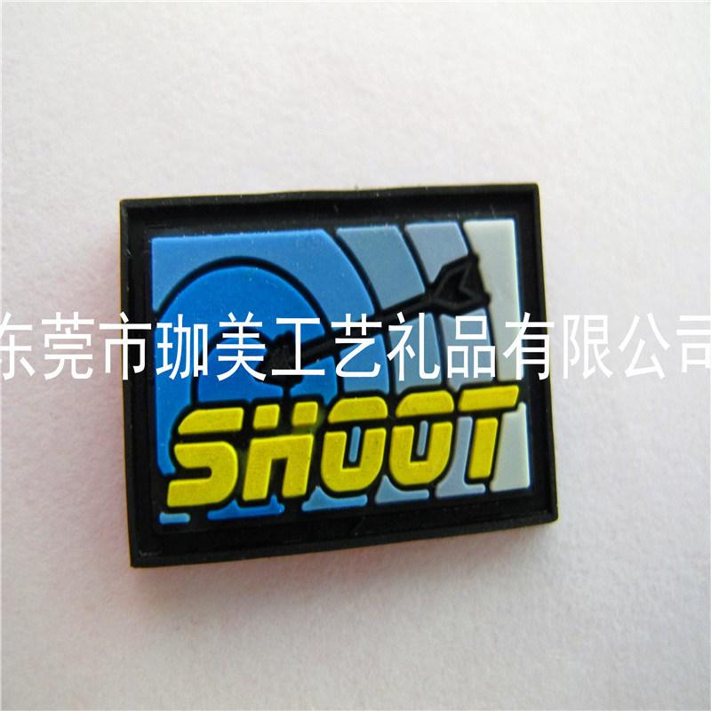 鞋材商标 卡通标牌 滴胶商标 PVC软胶标牌