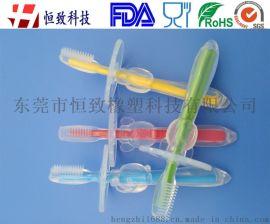 硅胶婴幼儿训练软毛牙刷 母婴用品硅胶婴幼儿牙刷