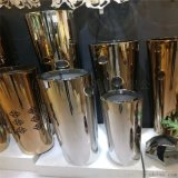不鏽鋼圓柱花盆定製不鏽鋼酒店會所裝飾花箱花鉢