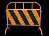 厂家直销市政护栏弯角铁马安全围栏黄黑铁马护栏