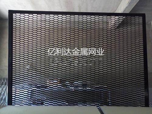 吊顶专用-黑色喷塑六角孔钢板网