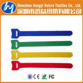 鸿益 电子线材专用 魔术贴 扎带 捆绑带 高温彩色背靠背魔术贴数据线 背对背 自粘扎带可印LOGO