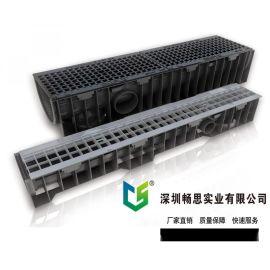 广东塑料排水沟 HDPE排水沟 线性排水沟 HDPE盖板 不锈钢盖板