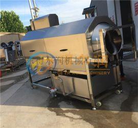 吉林连续食品袋子滚筒清洗机 杀菌袋子滚筒清洗机设备