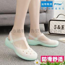 FITER2018夏季洞洞鞋女沙滩鞋子舒适防滑凉鞋