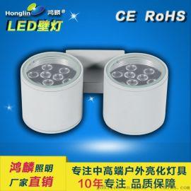 雙頭單向壁燈_led戶外壁燈_18W雙頭壁燈