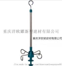 重庆不锈钢输液杆天轨输液吊杆吊瓶架输液架 长度定制