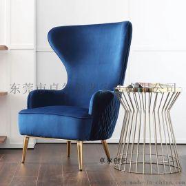 现代极简轻奢创意单人休闲沙发椅