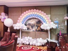 昆明花語花香氣球寶寶宴策劃氣球兒童生日布置