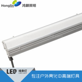 直角双面发光led线条灯_转角安装led线形灯