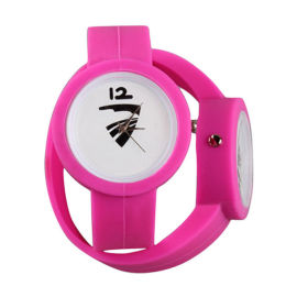 外贸货源厂家**新款**连体硅胶礼品促销手表