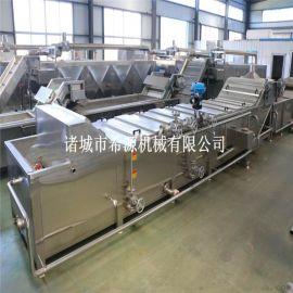 大型小龙虾清洗蒸煮生产线 小龙虾加工设备
