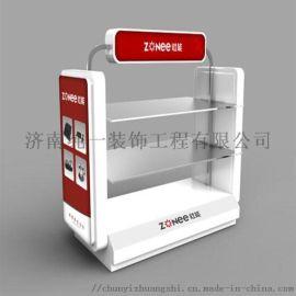 济南家用电器展柜,小家电展柜,刮胡刀展示柜设计制作