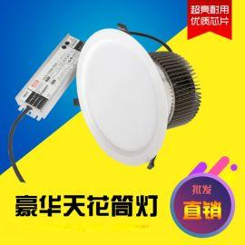 10寸led天花筒灯80 100W鳍片散热筒灯