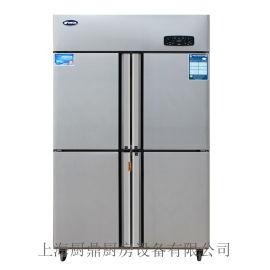 银都商用双温冷冻冷藏四门冰箱