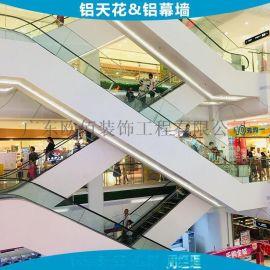 **万达广场|百货商场电梯、扶梯、楼梯通道两侧装饰包边铝单板