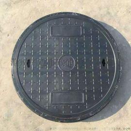 圆形复合井盖 复合树脂井盖定制 700轻型绿化井盖
