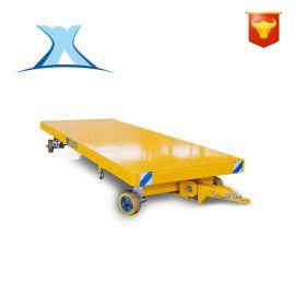 车间物料运输转运胶轮四轮车拖车  低平板拖车牵引搬运车拖地平车